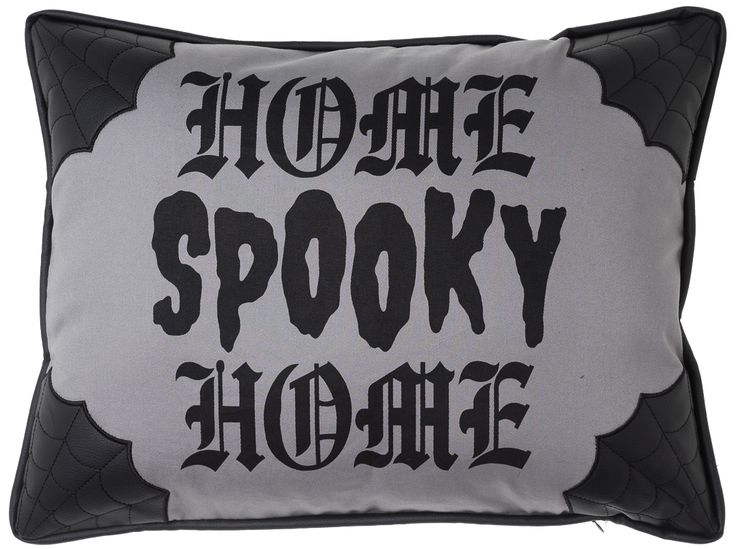 SOURPUSS CANVAS SPOOKY HOME PILLOW