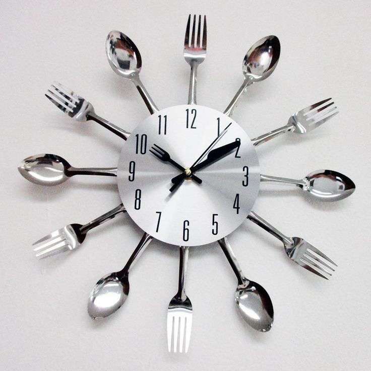 Uniquebella Metal Kitchen Cutlery Utensil Wall Clock Spoon: 7 Best Time For Clocks! Images On Pinterest