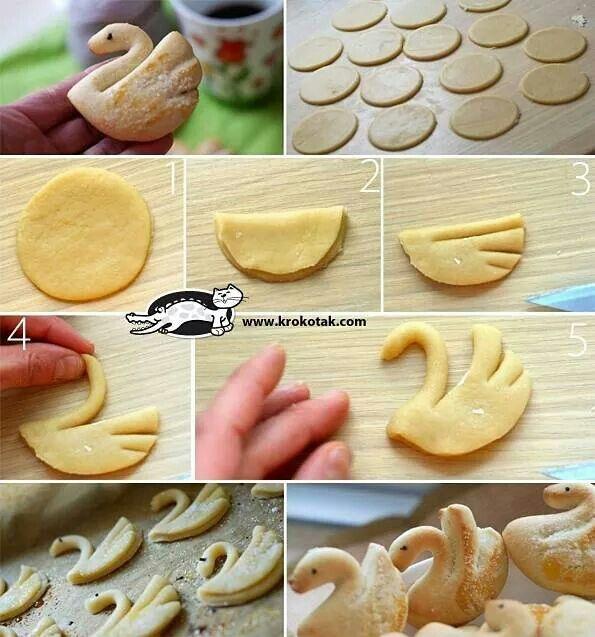 Swan cookies...