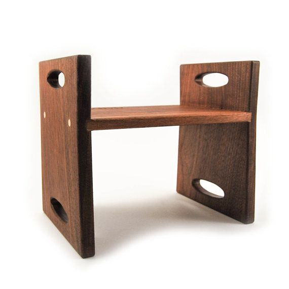modern kids step stool walnut double sided by littlesaplingtoys