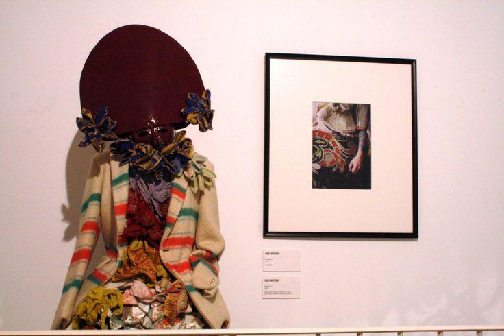 "Textil, wool, porcelain, wood, aluminum and leather Isabel Mastache, ""Peliqueiro"""