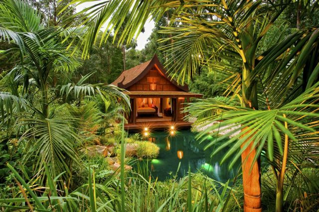 This hidden gem, the Balinese Retreat, is located in the beautiful Dandenong Ranges in Victoria, Australia - www.viewretreats.com