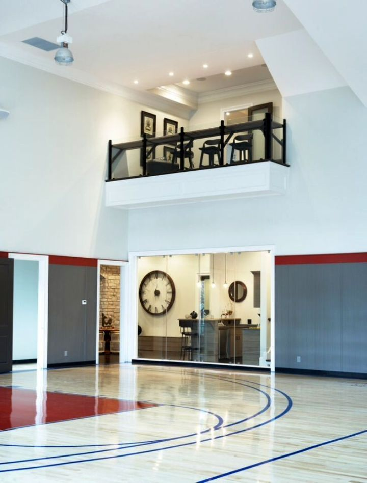 Pin By H A N N A H S A G E On Game And Bar Room Home Gym Design Indoor Sports Court Indoor Basketball Court