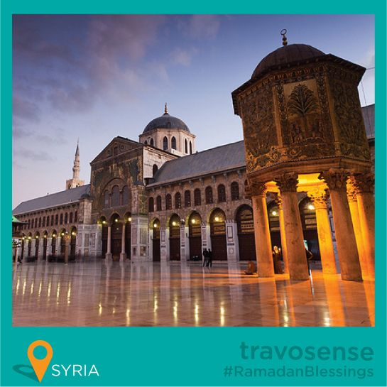 #travosense presents #RamadanBlessings ::  Great Mosque of Damascus - #Damascus, Syria Umayyad Mosque , also known as the Great Mosque of Damascus (Arabic: جامع بني أمية الكبير, Romanization Ğāmi' Banī 'Umayya al-Kabīr), located in the old city of Damascus, is one of the largest and oldest mosques in the world. It is considered by some Muslims to be the fourth-holiest place in Islam.  - By Travorage