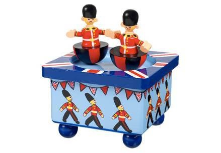wooden solider music box age 36 months plus plays london's bridge is falling down