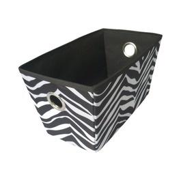 Cute Zebra Storage Bin....Classroom Zebra Theme. Fabric 9.99 Sold At