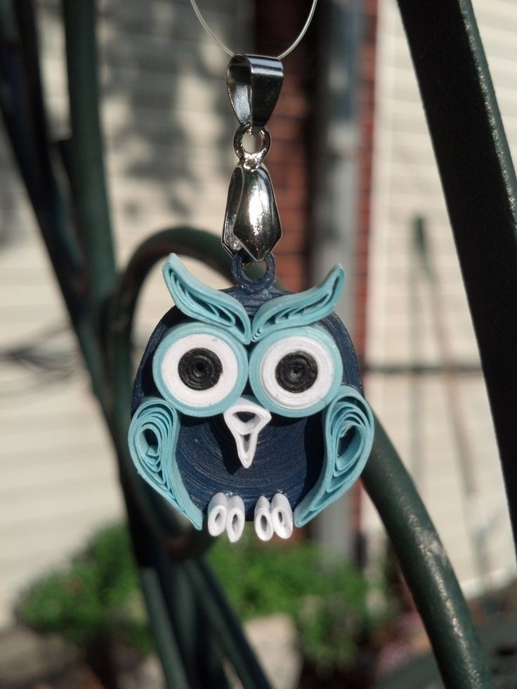 Paper Quilled Owl Pendant paper by SweetheartsandCrafts