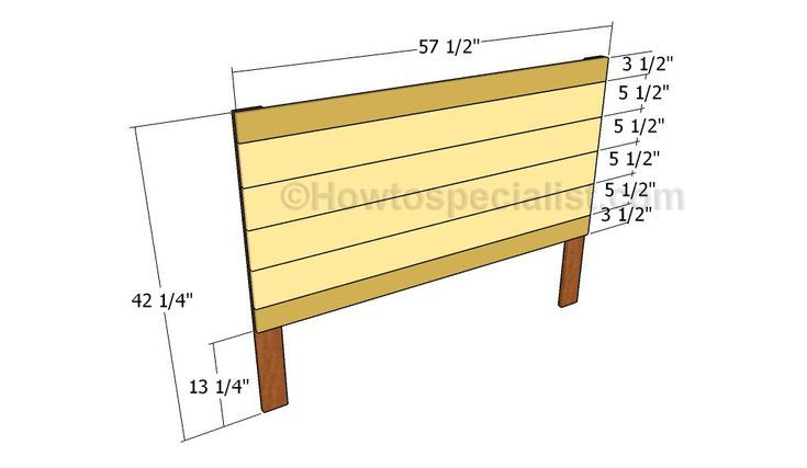 Full size headboard plans
