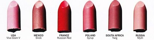 most popular MAC shades by country.