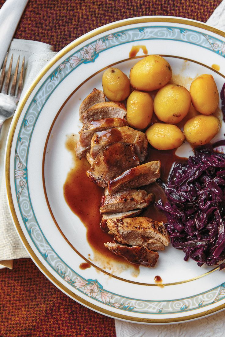Ptarmigan, wild grouse, is lavished with a sauce of thyme and bilberries, an Icelandic cousin of blueberries, which make a good substitute.