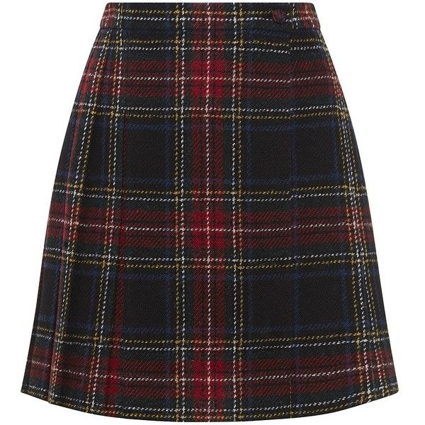 Saint Laurent Tartan Kilt Miniskirt found on Polyvore