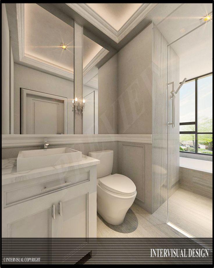 Dekorasi kamar mandi nuansa putih dan bersih   Portofolio By : Intervisual (Interior Designer di Sejasa.com)