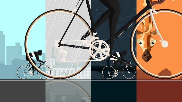 We love bikes. So being able to spend days modelling and animating them is truly a pleasure. Needless to say we had a great time creating these titles and graphics for 'På Hjul med Dag Otto'. The show follows Dag Otto Lauritzen (One of Norway's greatest cyclists) and Kristian Ødegård as they cycle their way around the globe. Around the world in 25 seconds!  Watch the on-screen graphics here: https://vimeo.com/63168452