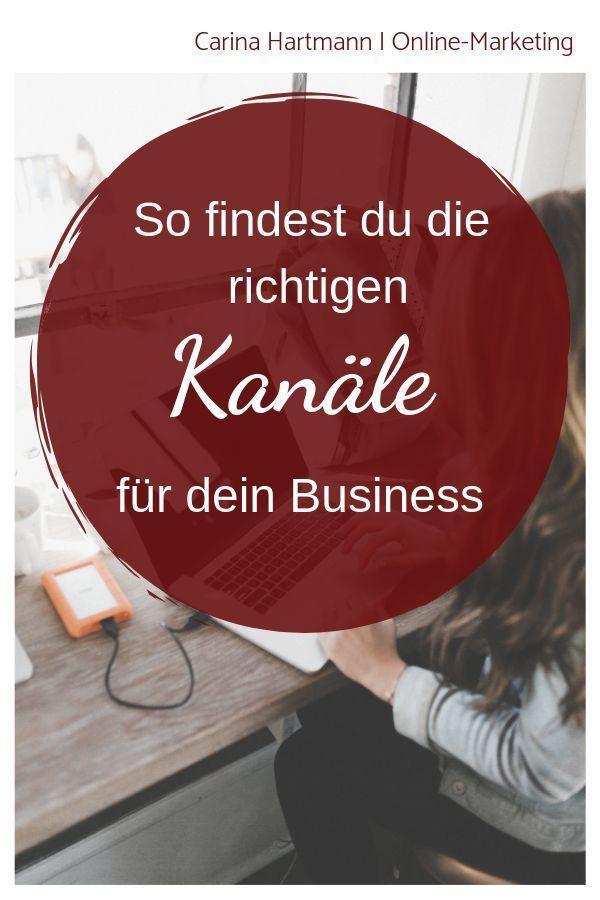 Welche Online Marketing Kanale Passen Zu Dir Carina Hartmann Online Marketing Marketing Empfehlungsmarketing