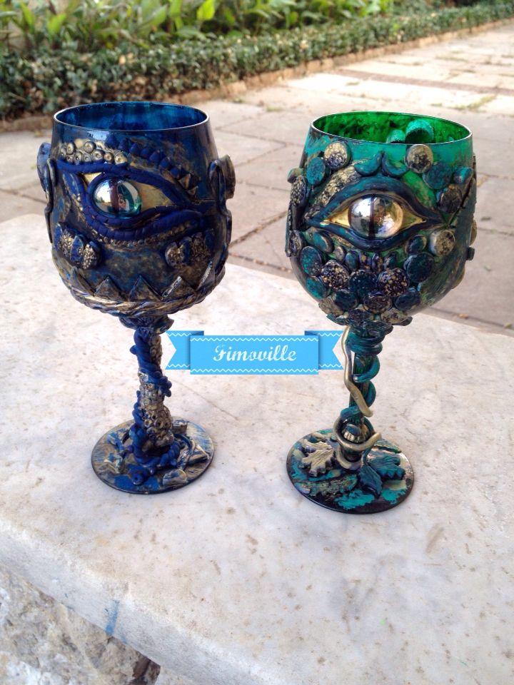 Bicchieri in vetro interamente realizzati a mano