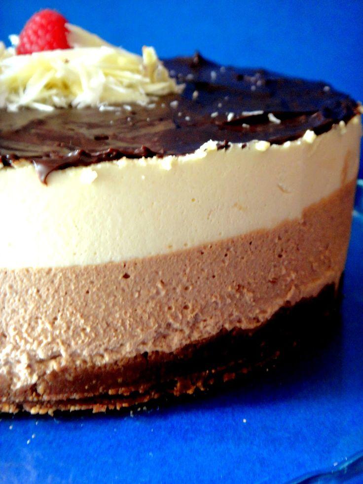 Semifrio de chocolate e caramelo