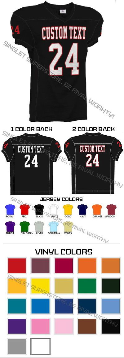Youth 159111: Youth Football Jersey In 13 Colors, Add Customization 7 Business Day Production -> BUY IT NOW ONLY: $35.9 on eBay!