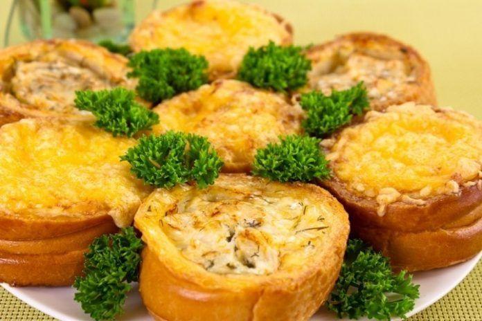 Закуска «Гнездышки с рыбой и сыром» / Едальня