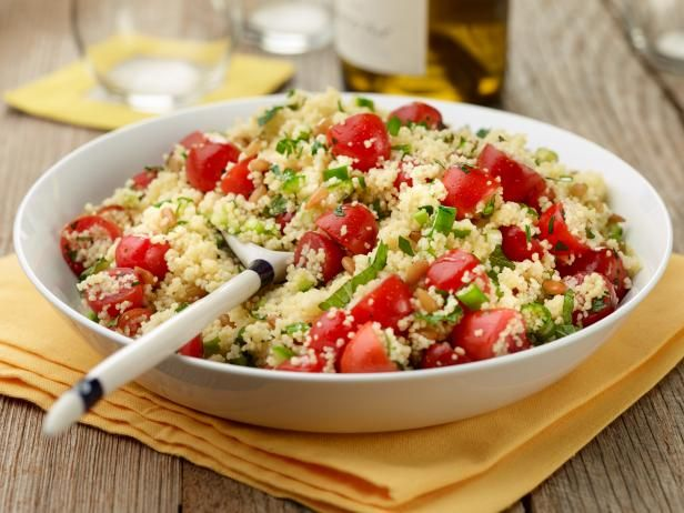 Get Couscous Salad with Tomatoes and Mint Recipe from Food Network Cut the parsley & mint by 1/2 and add 1/2 a block of crumbled feta cheese.