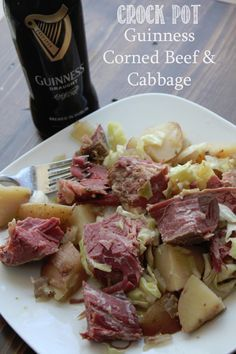Crock Pot Guinness Corned Beef and Cabbage Recipe (St Patrick's Day) - From Tammilee Tips