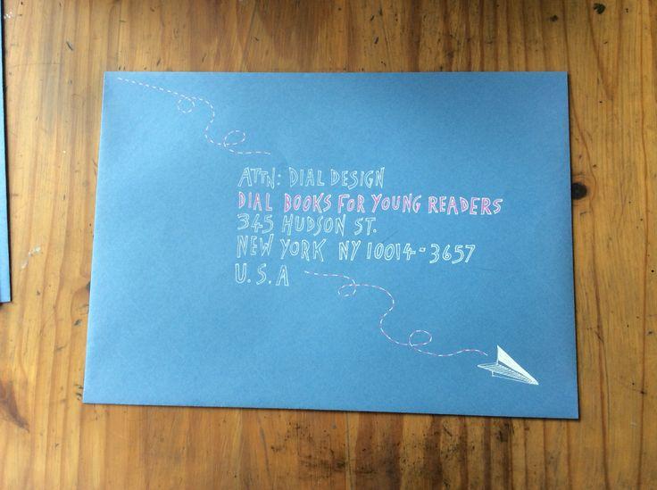 Hand lettered envelope.