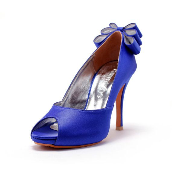 Custom Made Wedding Heels Blue Wedding Heels by ChristyNgShoes, $160.00
