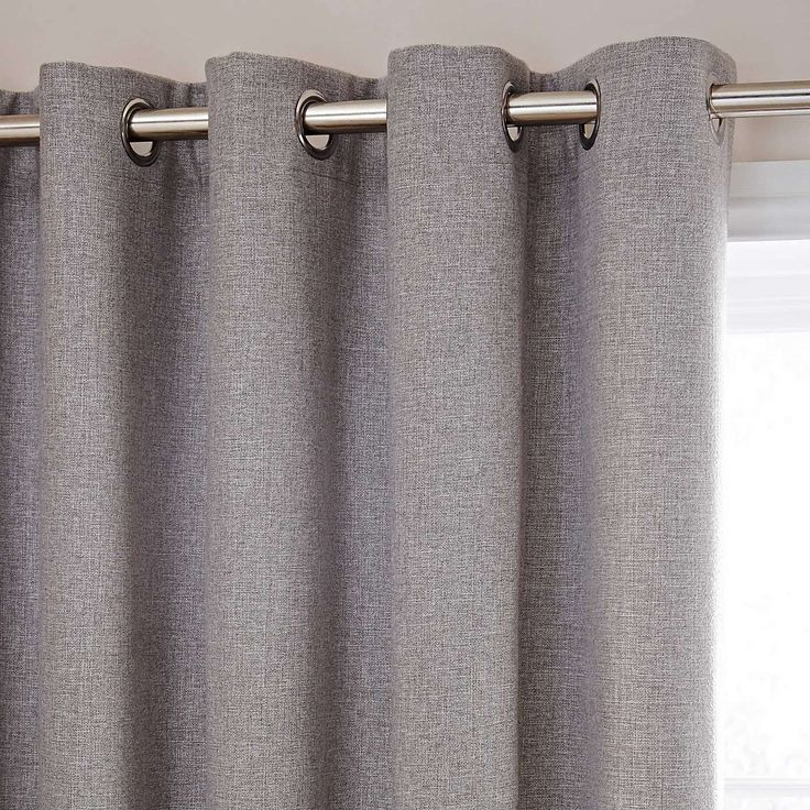 £80 - Harris Grey Thermal Eyelet Curtains   Dunelm