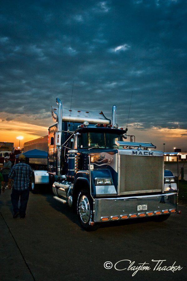 Blue Mack Superliner at the I-80 truck show..