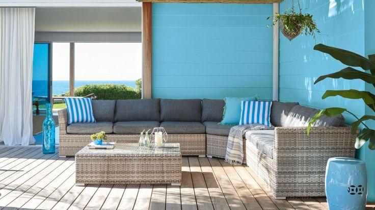 Tahiti Large Modular Outdoor Lounge Suite - Outdoor Lounges - Outdoor Living - Furniture, Outdoor & BBQs | Harvey Norman Australia