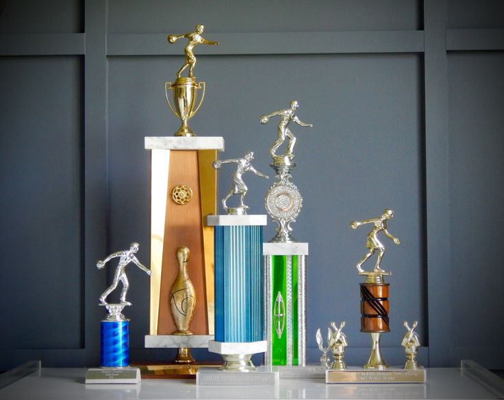 Set of 5 Vintage Bowling Trophies / From 1960s-1999s / Womens Bowling Trophy / Mens Bowling Trophy / Group Bowling Trophy /Bowling Sculpture by NashvilleKindofLife on Etsy