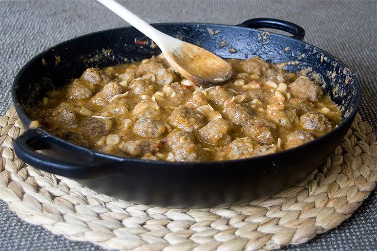 A delicious Beef meatballs with cuttlefish recipe which traditionally comes from the Spanish region of Catalonia.