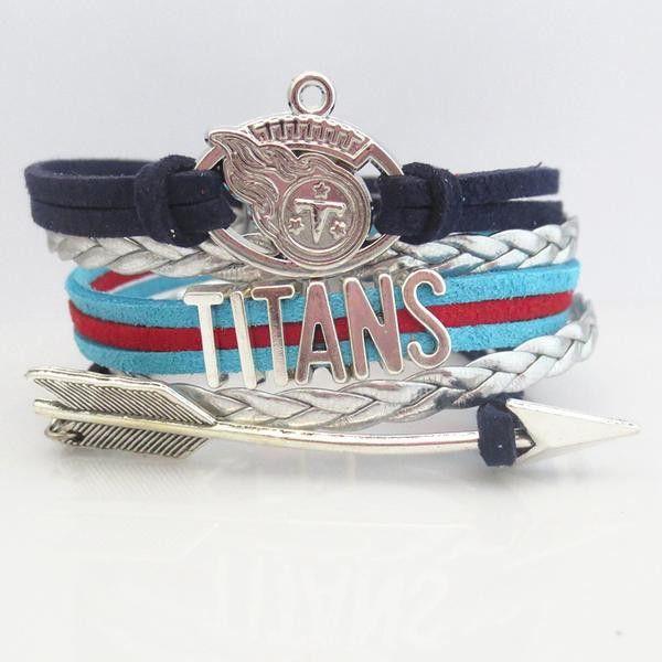 NFL Tennessee Titans Football Team Bracelet
