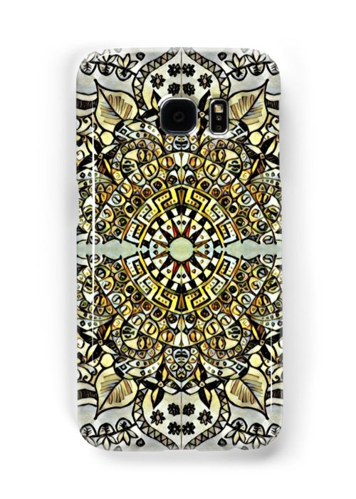 The Wind Singer Samsung Galaxy case  mandala tile ornament aramanth kaleidoscope pattern leafy