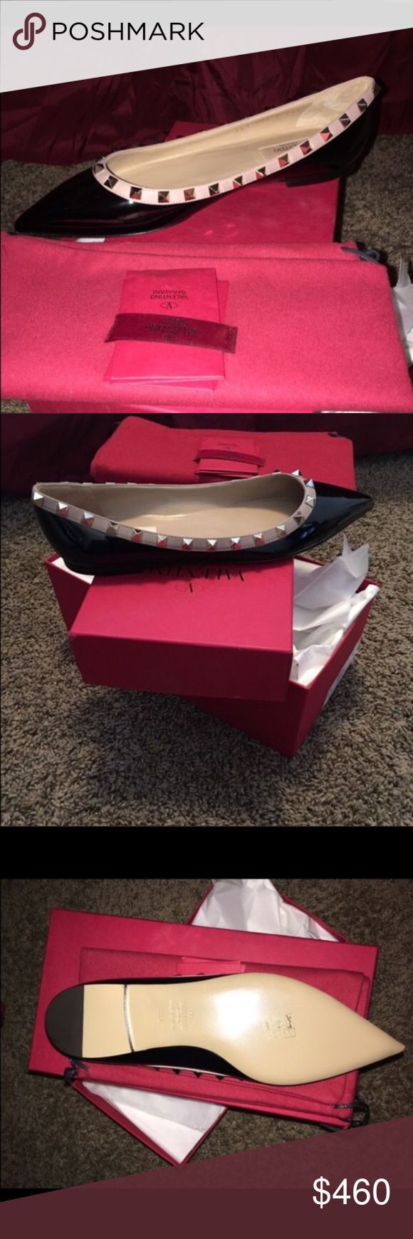 Authentic Valentino Rockstud size 8 Authentic guaranteed and brand new in box Valentino Shoes Flats & Loafers