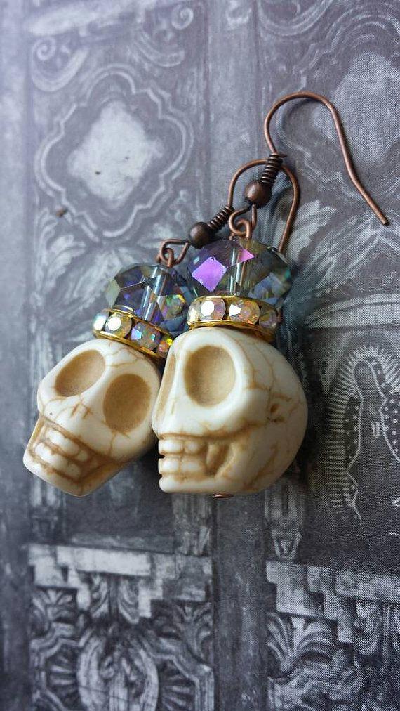Frida Kahlo Inspired Earrings Iridescent by SugarSkullsJewelry