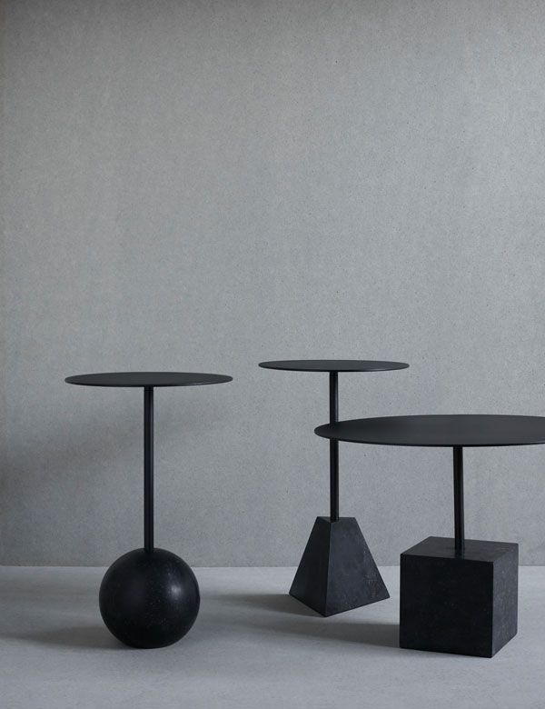 The Knockout table by Friends & Founders. Solid marble base with metal table. Indoor and outdoor use.