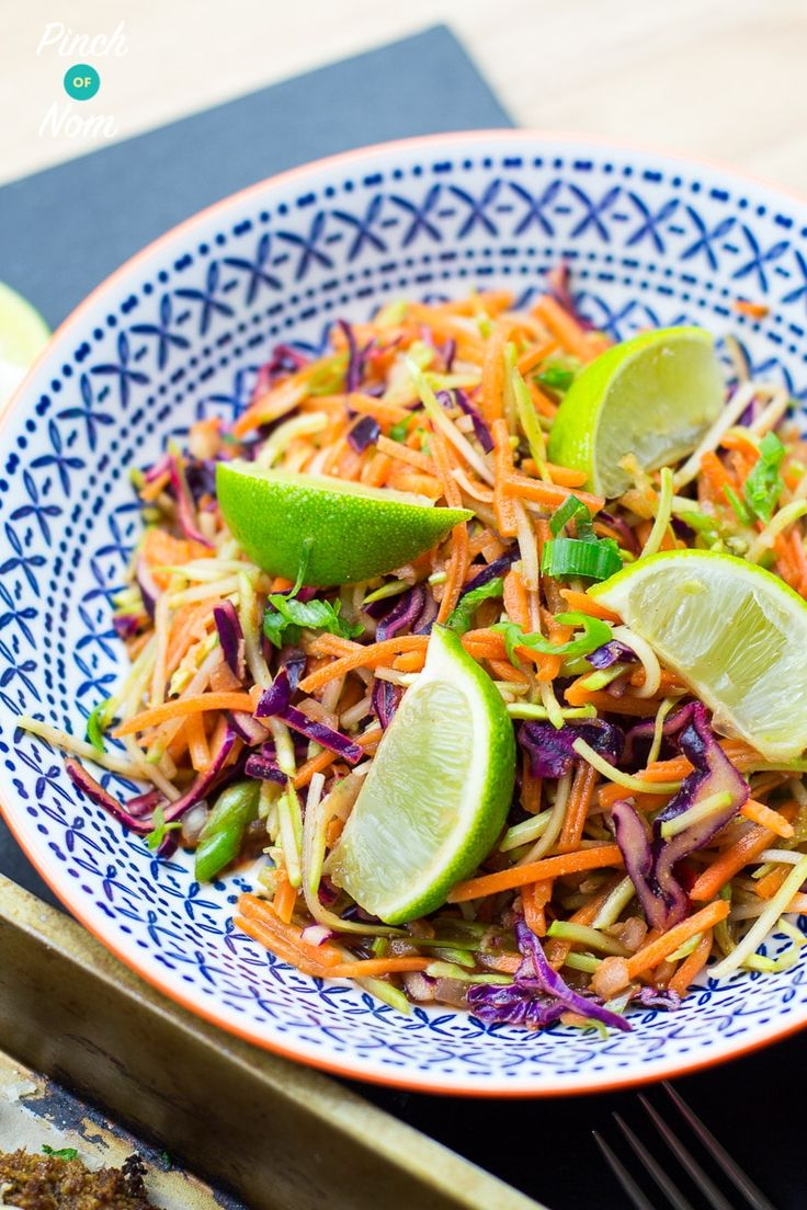 This Syn Free Mexican Slaw is full of speed food, which makes it perfect to enjoy on both the Slimming World Extra Easy plan and SP plan.