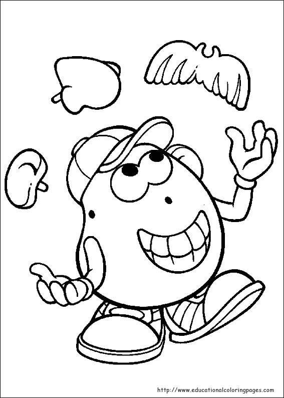 Mr Potato Head Coloring Page Mr Potato Head Party Mrs Potato Coloring Pages