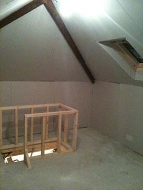Loft storage room