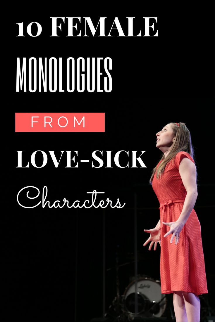 female monologues Free monologues for auditions: men, women, and kids too ever have trouble finding free monologues for auditions not anymore we hand-picked these monologues to give you the best edge in the audition room.