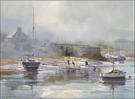 'Rising Mist' in Topsham by Ray Balkwill