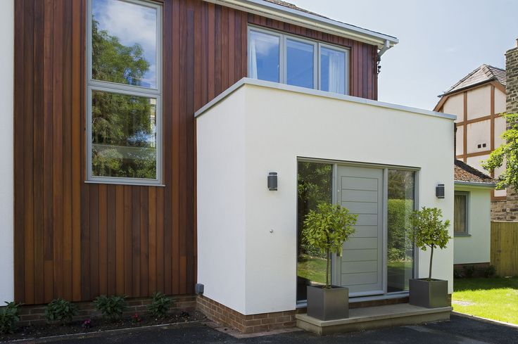 Modern front entrance extension google search modern for Modern garden room extensions