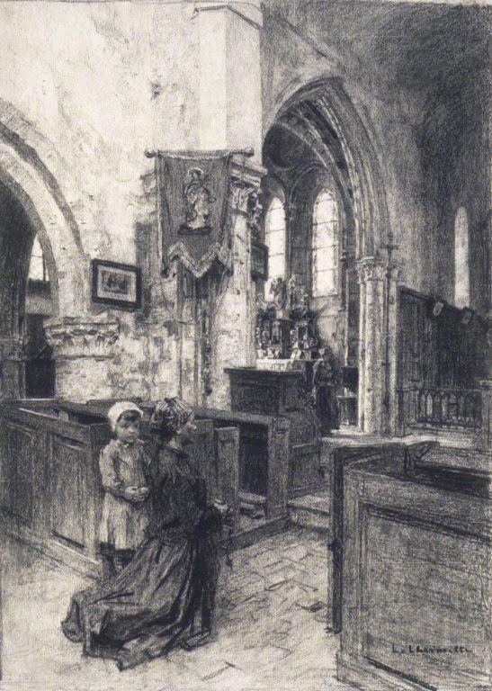 Brooklyn Museum - The Church of Saint-Eugène (L'Église de Saint-Eugène) - Léon-Augustin Lhermitte.jpg
