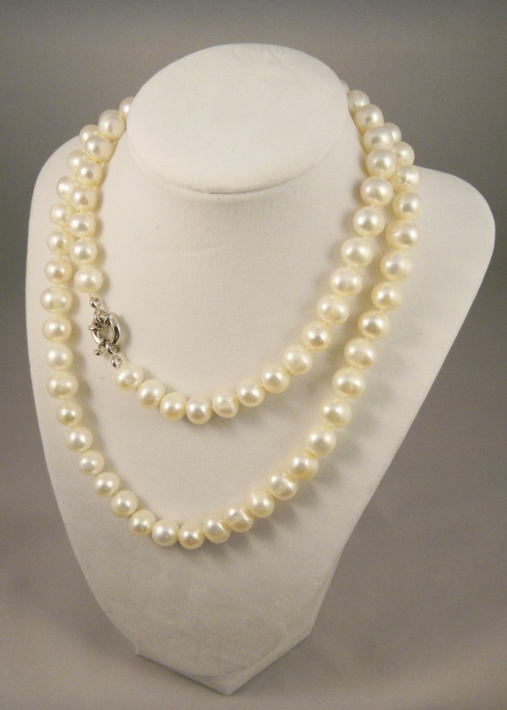 Freshwater White Pearl Strand Necklace