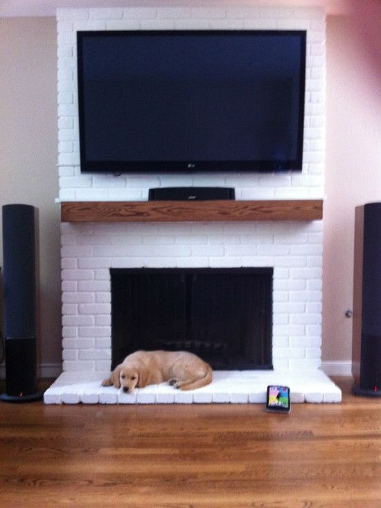 White Brick Fireplace Design, Pictures, Remodel, Decor and Ideas - page 2