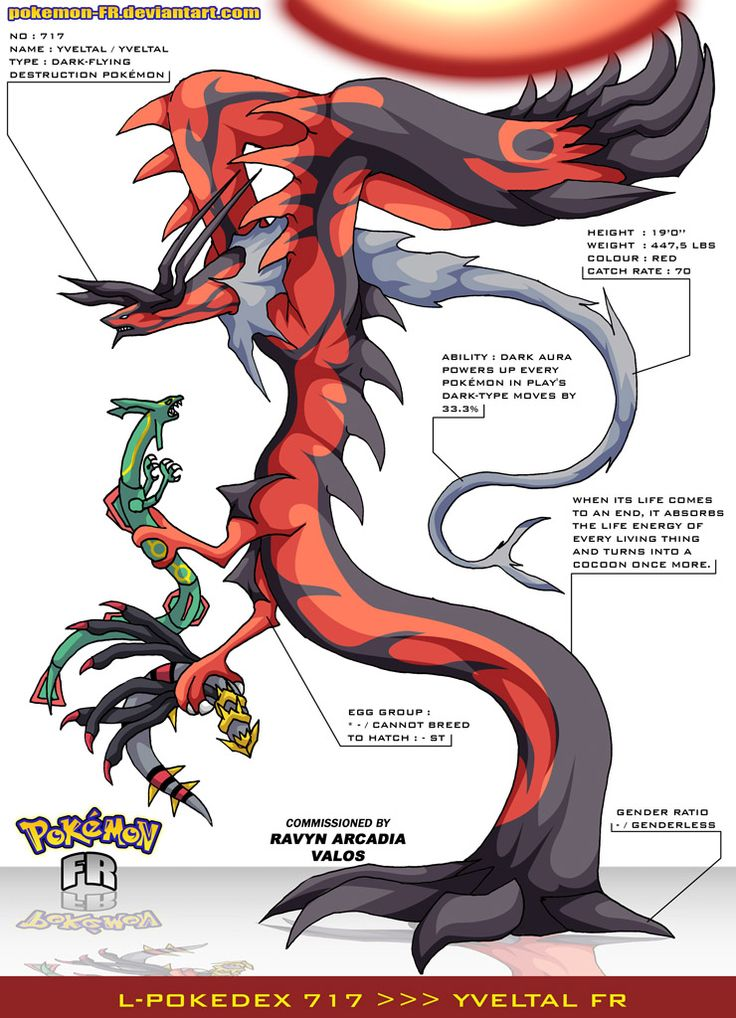 Pokedex 717 yveltal fr by pokemon fr on deviantart - Evolution pokemon legendaire ...