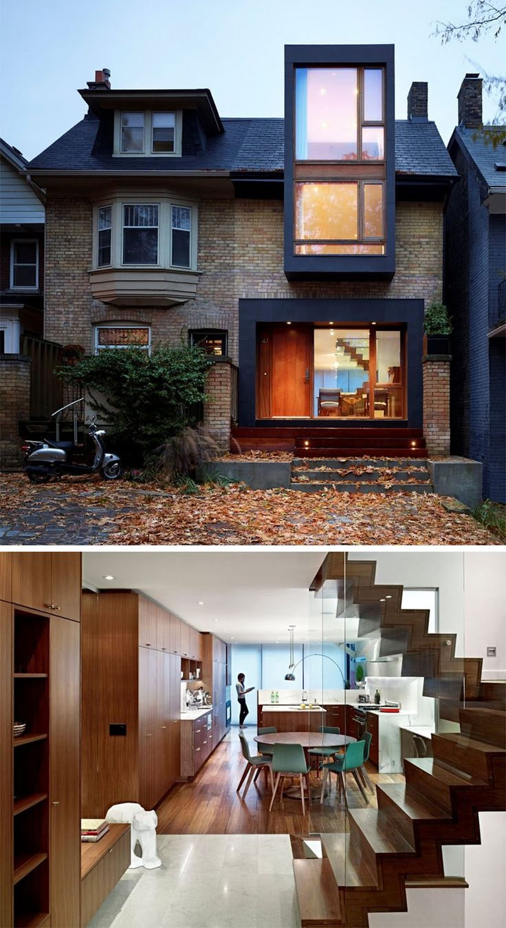 This 100 year old semi-detached family home in Toronto, Ontario, was renovated by Drew Mandel Architects.