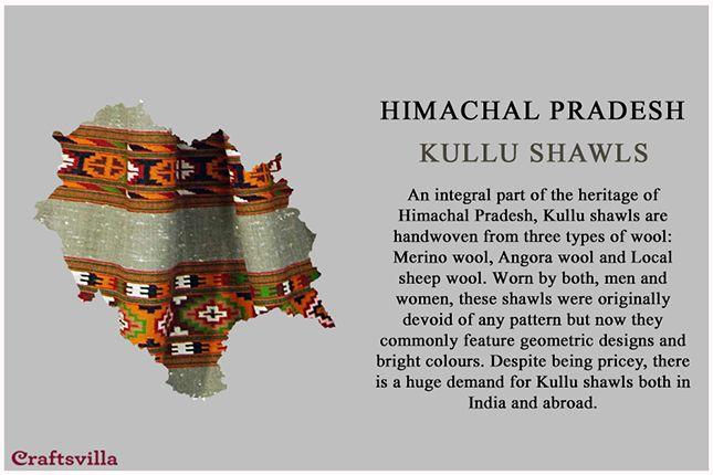 Kullu shawls from Himachal Pradesh
