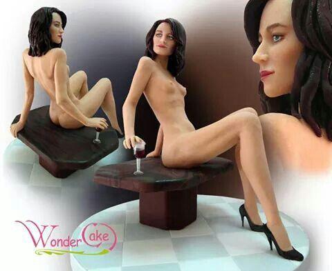 Women cake Naked