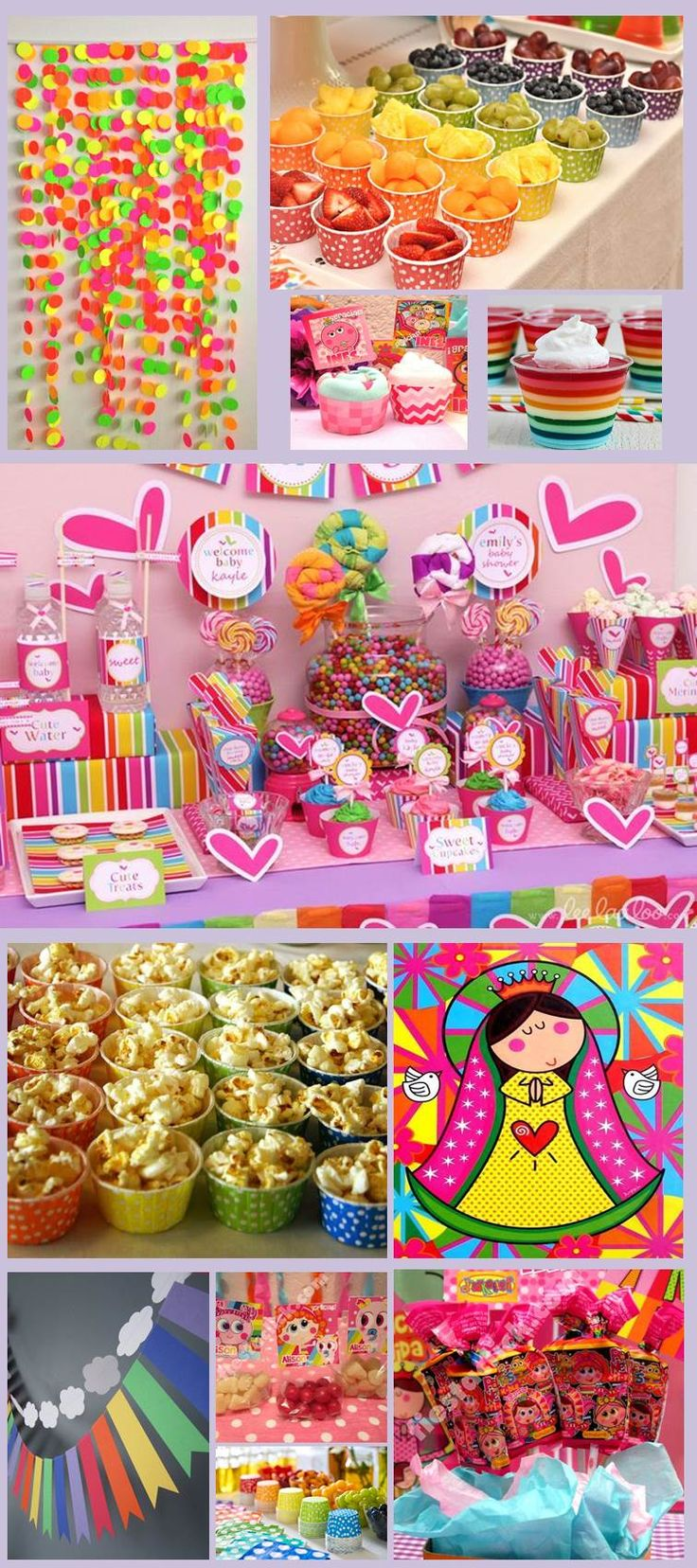 Candy Bar Distroller. Mesa de dulces y botanas. Virgencita Plis.
